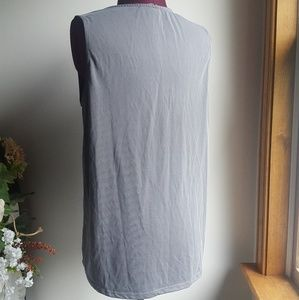 Green Envelope Tops - Womens gray V-neck top